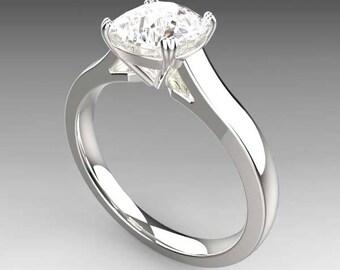 1.4 carat NEO Moissanite Engagement Ring