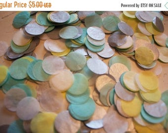"ON SALE Summer Breeze Tissue Confetti 3/4"" Circles"