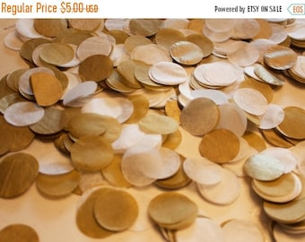 "ON SALE Golden Tissue Confetti 3/4"" Circles"