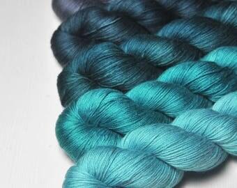 Flawed logic - Gradient of Silk/Cashmere Lace Yarn