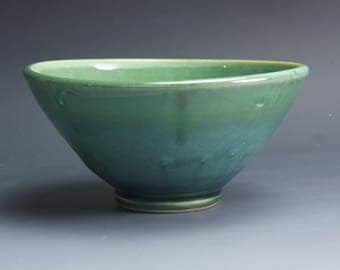 Sale - Handmade pottery bowl jade green pottery soup or pottery salad bowl 18 oz - 4052