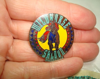 Two Vintage WILDHORSE SALOON Nashville Enameled Pins.