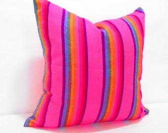 Cinco de Mayo Tribal pillow cover 26X26, Pink Cushion,  Pillow Covers, Bohemian Decor, Boho Bedding, Mexican Cushion,  tribal pillowcase
