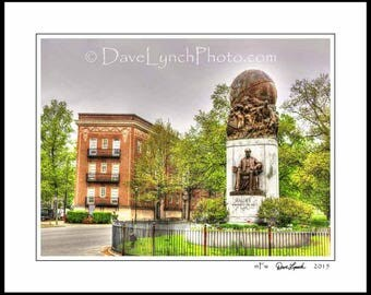 Richmond VA  - Matthew Fontaine Maury Monument  - Statue - General - Civil War - Confederate -  Fine Art Photography Print by Dave Lynch