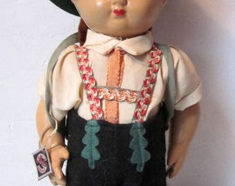 Vintage Steha German boy Composition Doll