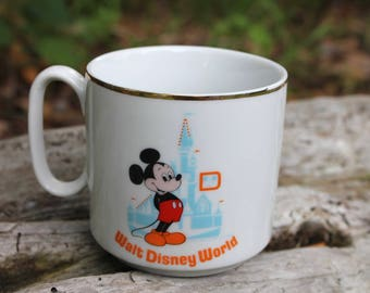 Vintage Mickey Mouse Walt Disney World Mug