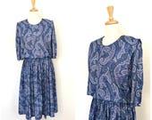Vintage 80s dress - paisl...