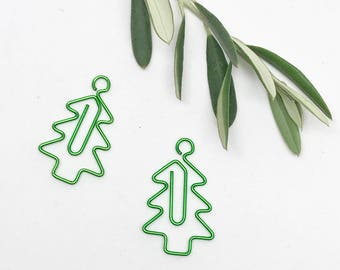 Christmas Tree Paper Clip| Holiday Paper Clip, Planner Clip, Green Tree Paper Clip, Green Christmas Tree Paper Clip