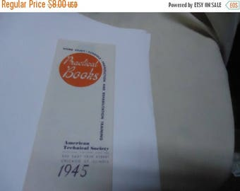 Ephemera & Books 50% Sale Vintage 1945 Practical Books Booklet, American Technical Society, collectable