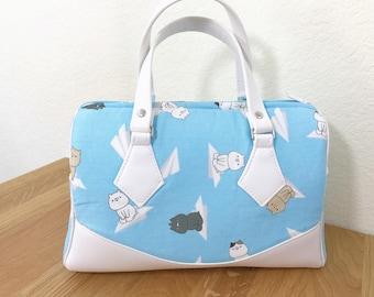 Bags - Cat Kitten Japanese Fabric Barrel Bag