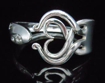 Fork Bracelet, Silverware Jewelry in Heart Design Number Three, Mother's Day Gift