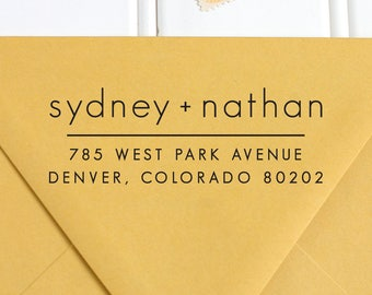Return Address Stamp, Address Stamp, Self Inking Return Address Stamp, Wedding Return Address Stamp, RSVP Stamp, Custom Stamp - No. 50