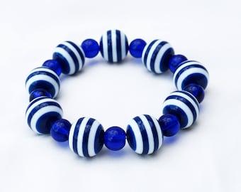Blue Stretch Bracelet - 7 inches