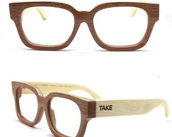 20% off SUMMER SALE Takemoto Mjx1304 Handmade Bamboo Eyeglasses prescription Glasses prescripiton RX Eyewear
