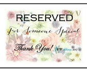 RESERVED for Denise - 100 MEDIUM Custom Soap Favors with Complimentary Cellophane bags