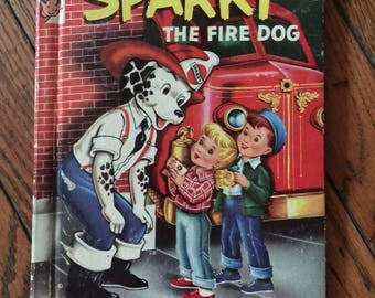 1944 Sparky the Fire Dog by James Browning Rand McNally Elf Book