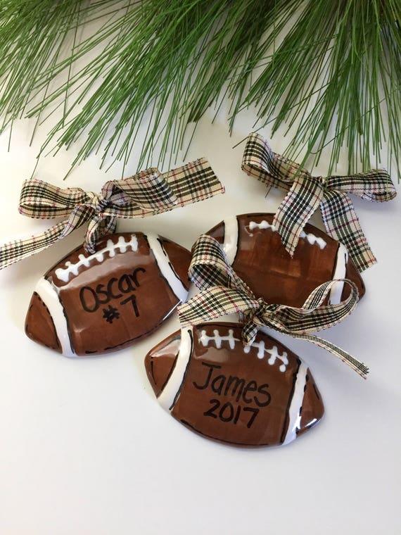 Football ornament, personalized football ornament, Hand painted, Personalized, football, team ornament, football Christmas ornament