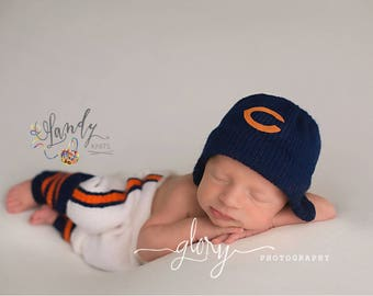 baby football outfit, baby boy photo outfit, custom baby gift, baby football leg warmers, newborn photo prop, baby football hat, new dad