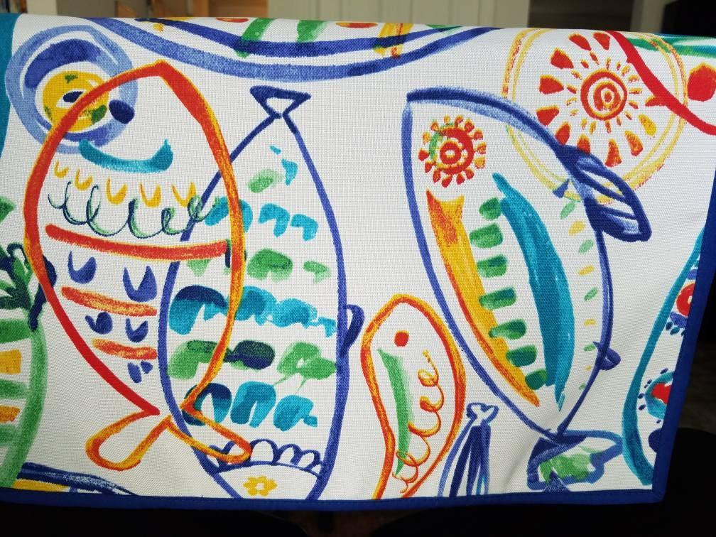 Coastal, Seashore, Tablecloths, Table Runners, Nautical, Sealife, Table  Linens,