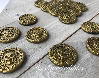 Cupcake Topper for Pirate Theme that are Edible Gold Coins