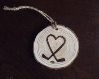 Love Hockey Ornament