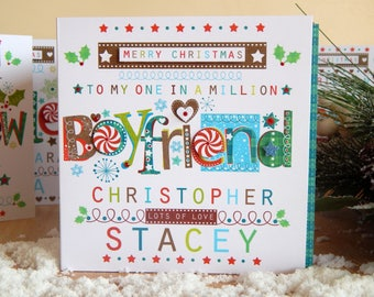 Personalised Boyfriend Christmas card for BOYFRIEND christmas special card