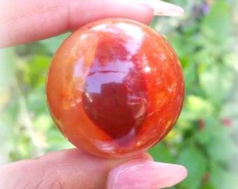 Carnelian Medium Yoni sphere 130