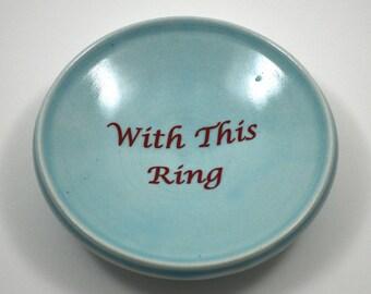 Wedding Ring Dish/ Custom Ring Dish/ Wedding Gift/ Porcelain Ring Dish/ Ice Blue Porcelain Ring Dish/ Blue Ring Dish/ Something Blue