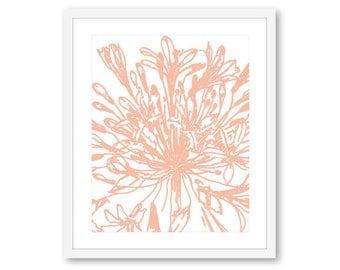 Flower Wall Art, Modern Flower Print, Flower Artwork, Floral Print, 8x10 On