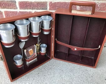 Vintage Londonaire Portable Pub Suitcase Complete Travel Bar