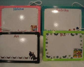 Personalized Dry Erase Boards Great for Party Favors, Birthdays, Class Parties