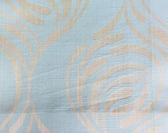 Custom Curtains Valance Roman Shade Shower Curtains in Light Aqua Mid Century Abstract Pattern Fabric