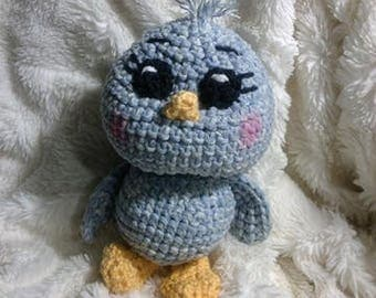 Crochet Stonewash bird Ready to Ship