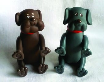 2 Pound Puppies Posables by Tonka 1985
