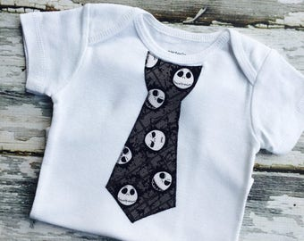 SALE***Jack Skellington Nightmare Before Christmas Boy's Tie Onesie