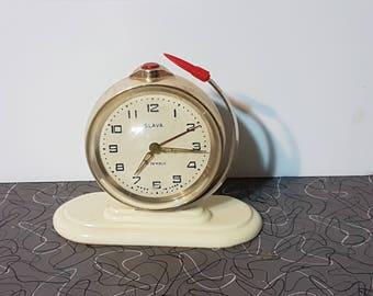 Vintage Space Age Slava Alarm Clock Rocket