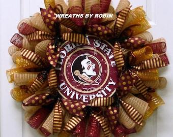 Florida State Seminoles, Sports Wreaths, College Wreaths (3159)