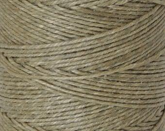 Tools & Supplies-4-Ply Irish Linen Cord-Waxed-Olive Drab-Quantity 100 Yards