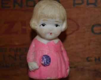 Vintage Frozen Charlotte Bisque Porcelain Doll