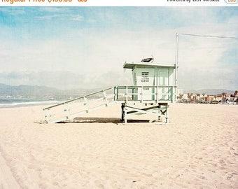 SALE Framed Wall Art, Venice Beach, California, Beach Wall Art, Lifeguard Tower, Framed Beach Art, Framed Wall Decor, Large Wall Art