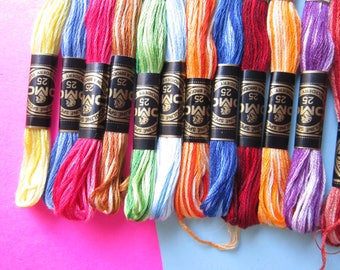 12  skeins ofVariegated DMC Embroidery Floss