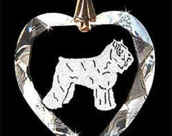 Bouvierdes des Flandres Dog Jewelry Custom Crystal Necklace Pendant, Suncatcher with any Animal or Name YOU Want, Gift, Dog Lover, Handler