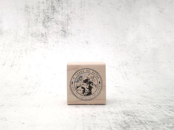 Astronaut-Cosmonaut Seal Rubber Stamp for Stationary
