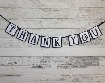 Thank You Banner - Wedding Decorations