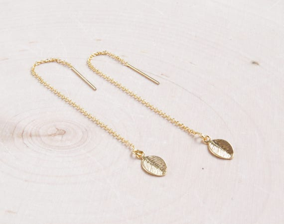 Threader Earrings | Gold Threaders | Gold Chain Earrings | Dangle Earrings | Everyday Earrings | Gift for Her | Bridesmaids Gift