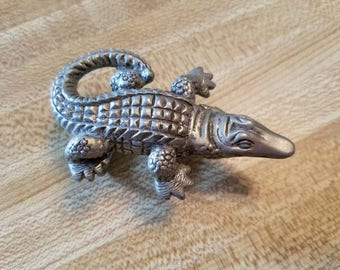 Vintage Terry Stack Alligator Crocodile Belt Buckle 1990s Accessory