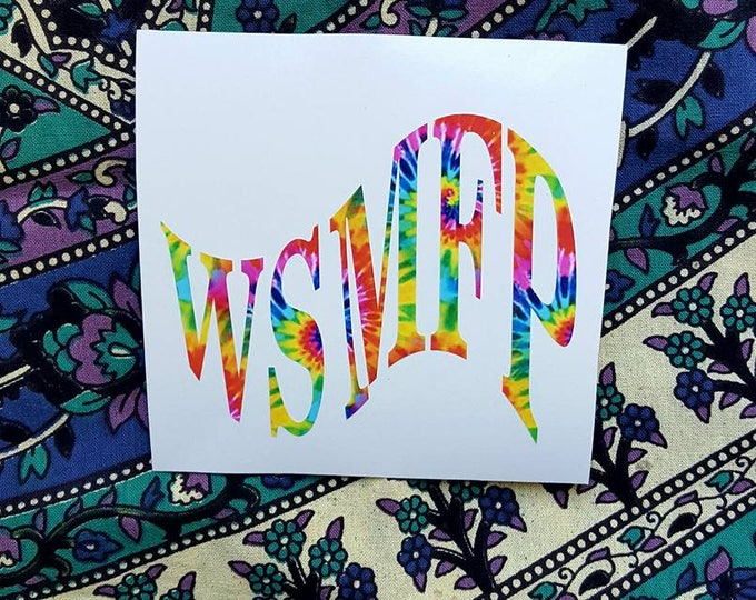Widespread Panic Flag Style Tie Dyed Vinyl Sticker Graphic Decal