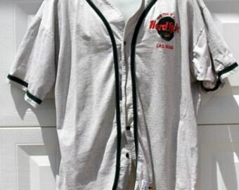 Hard Rock Cafe Men Las Vegas Baseball Style Shirt XL extra large Save the planet