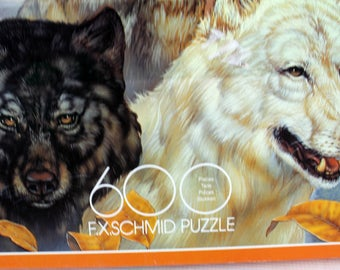 exquisit puzzle song of the wind 3 wolves 600 piece jigsaw