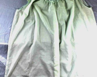 Vintage Sz M Green Sheer Sleeveless Nightgown